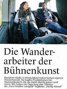 PDF: Hannah Schmidt: Die Wanderarbeiter der Bühnenkunst, Die Deutsche Bühne 4/2019, S. 16-18