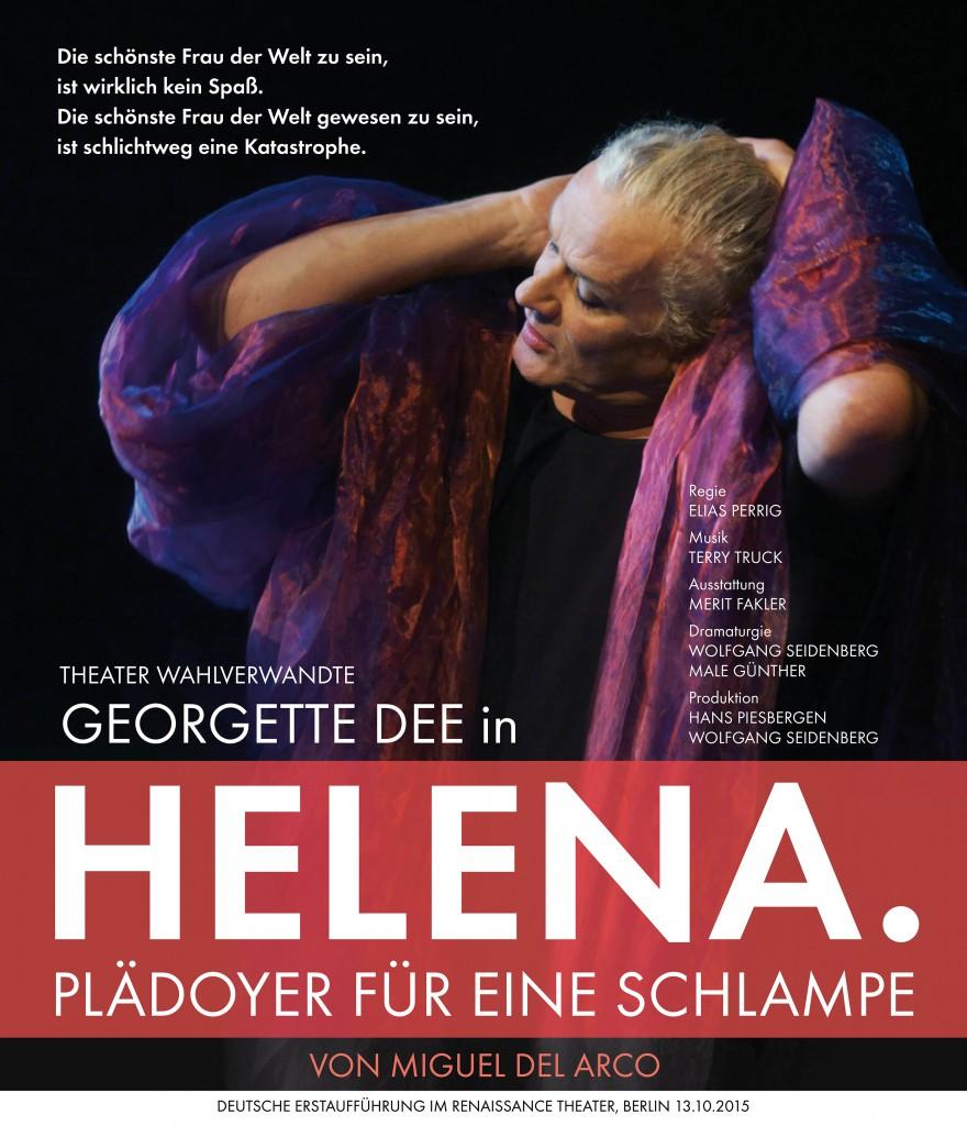 Plakat Georgette Dee - Helena. 2015