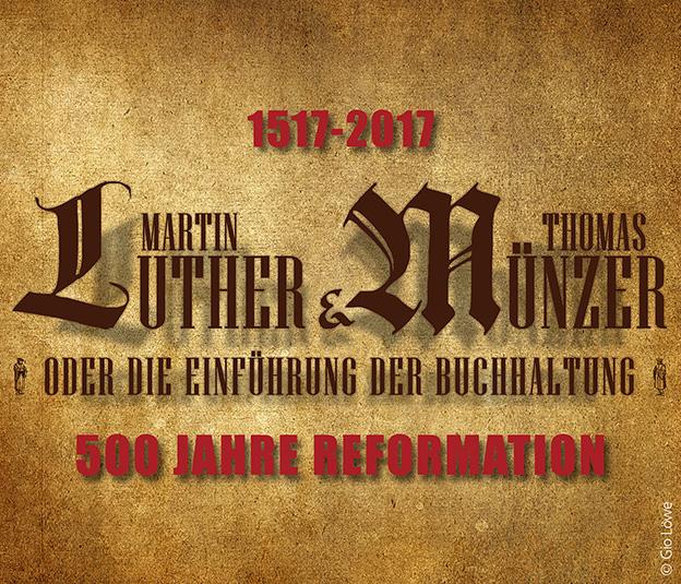 "Plakat ""Martin Luther & Thomas Münzer"" © Gio Löwe"